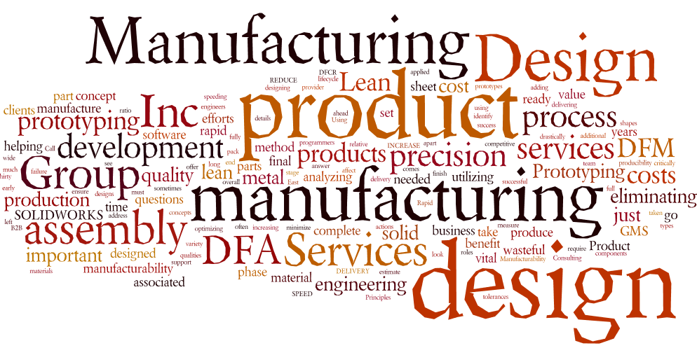 Design engineering group manufacturing services for Product development and design for manufacturing